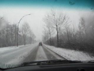 Straße Fürstenmoordamm Richtung Harburg